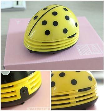 Niceeshop(TM) Electric Table Vacuum Cleaner Mini Dust Cleaner Yellow  Beetles Prints Design