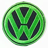 6.5 cm x 6.5 cm Green on Black Vw Bug Beetle Bus Car Patch Logo Vest Jacket Hat Hoodie Backpack Patch