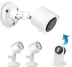 HOLACA Outdoor Mount Bracket for YI Smart Security Home Camera 3, Weather Proof Protective Cover and Adjustable Indoor & Outdoor 360 Degree Mount for Yi Home Camera 3 (2 Pack, White)