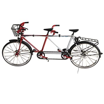 1:16 Alloy Tandem Bike Model Toy Bicycle Model Crafts for Home Decoration