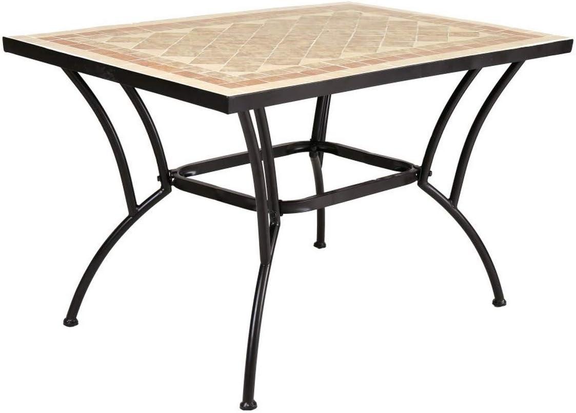 Mesa de jardín para Comedor marrón de cerámica árabe Garden - LOLAhome