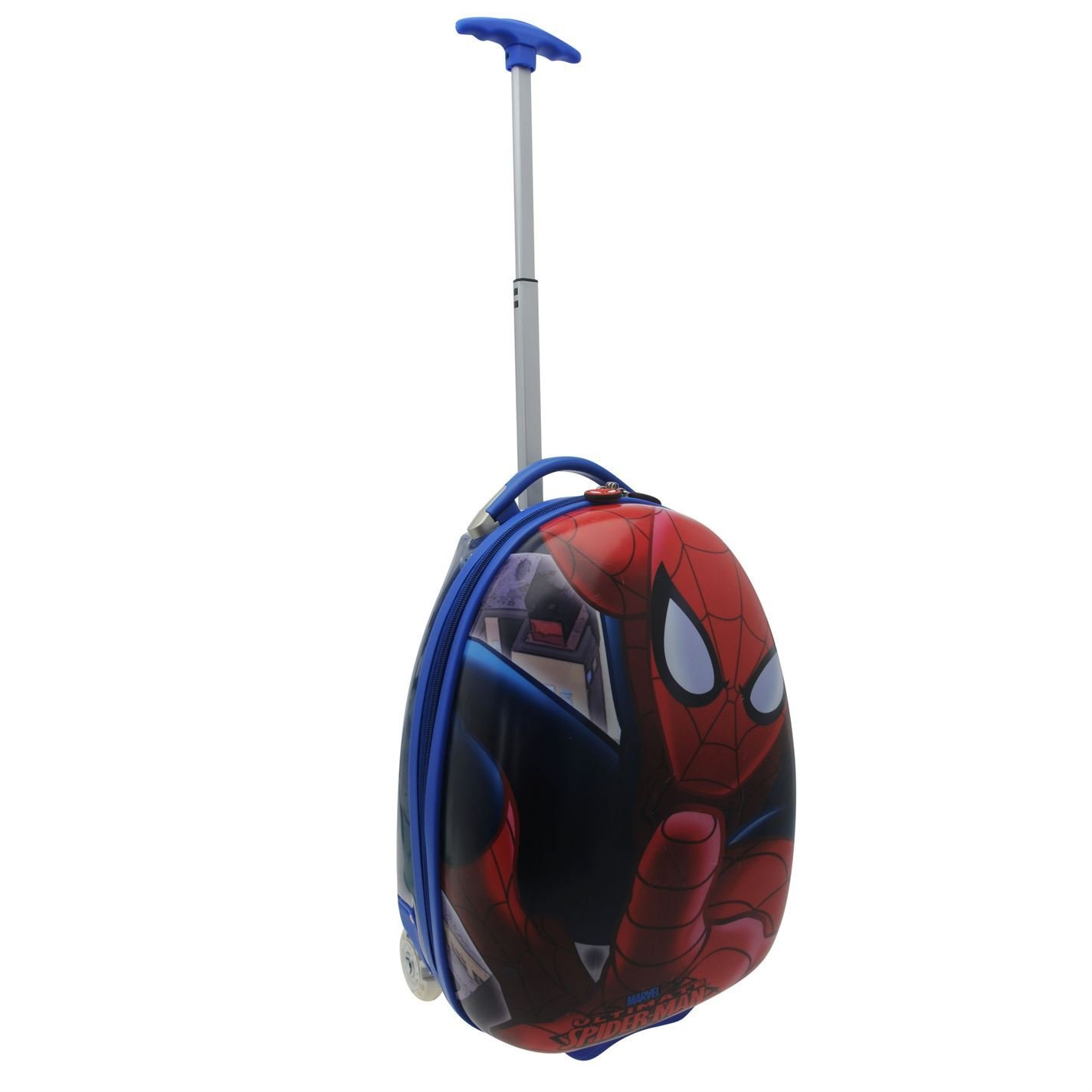 Marvel Spiderman Trolley Suitcase Childs Red/Blue Kids Travel Luggage Bag Case 19in/49cm by Spider-Man