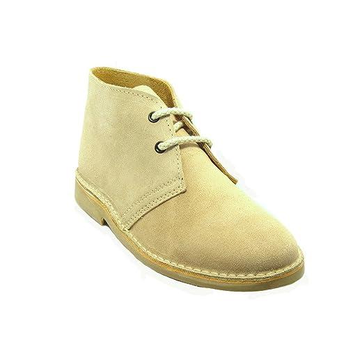 8c1b0776 K100FP - Bota safari punta italiana beige: Amazon.es: Zapatos y ...
