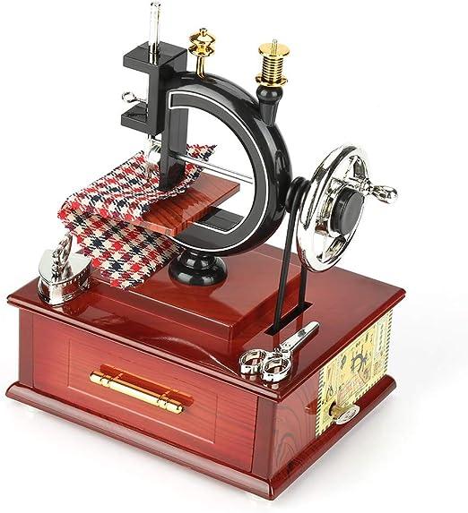 akozon Wooden Music Box Vintage Style creativos retro máquina de ...
