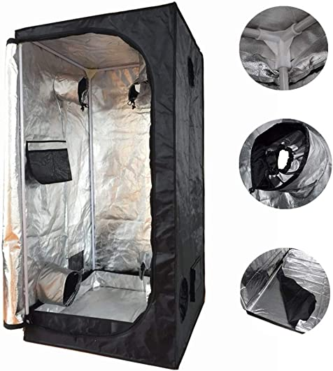 Smartbuy247 New 32 X32 X63 Grow Tent Bud Dark Green Room Hydroponics Box Mylar Silver