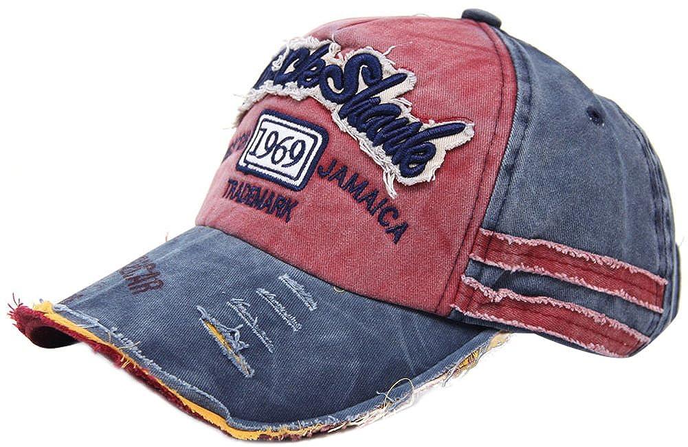 MINAKOLIFE Distressed Vintage Cotton Washed Baseball Cap Snapback Trucker Hat CAP-235