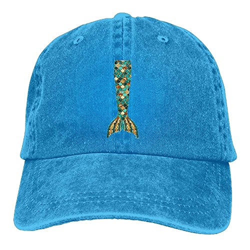 NDJHEH Gorras béisbol Mermaid Tail Baseball Caps Vintage Fitted Sized Personalized Hats For Teen Boys