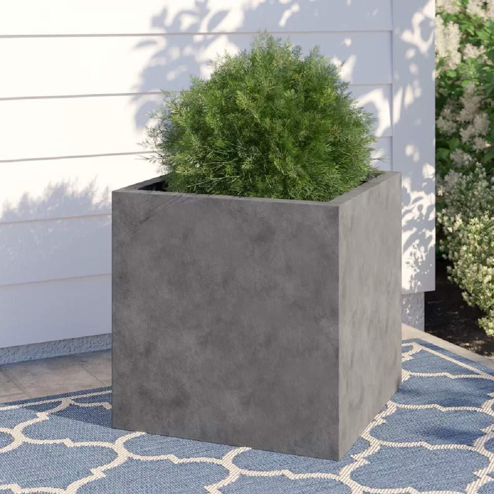 Amazon.com: Elegante color gris cuadrado interior y exterior ...
