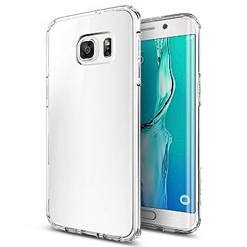 iVoler Funda Carcasa Gel Transparente Compatible con Samsung Galaxy S6 Edge Plus, Ultra Fina 0,33mm, Silicona TPU de Alta Resistencia y Flexibilidad