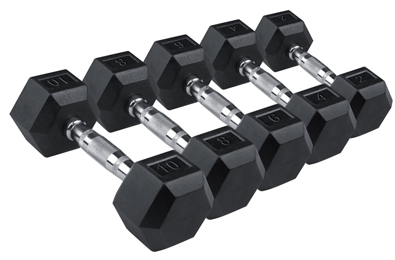 IQI FITNESS - Pesas hexagonales revestidas de goma (2 pesas de 5 kg y 2 pesas de 10 kg): Amazon.es: Deportes y aire libre