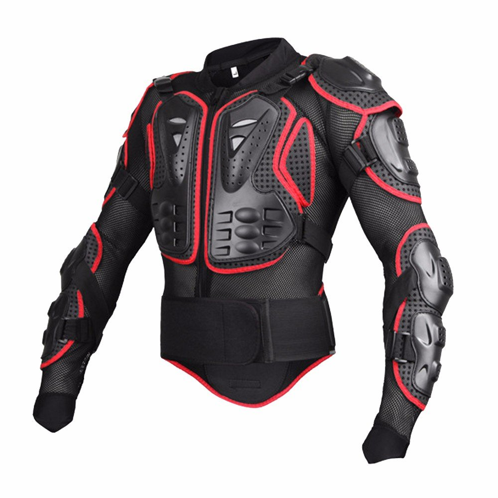 Black/Red Professional Motorcycle Racing Motocross Full Body Armor - L