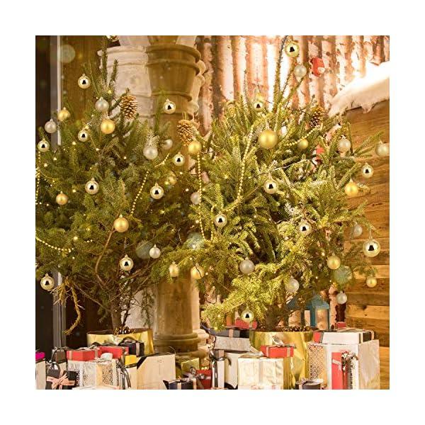 Kranich 32 Palline per Albero di Natale in Oro, infrangibili, Ideali per Decorazioni Natalizie, Decorazioni da Appendere, per Feste, Matrimoni, Feste (5 Finiture, 60 mm) 3 spesavip
