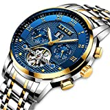 Mens Business Watches Top Brand Luxury LIGE Automatic Mechanical Watch Men Waterproof Full