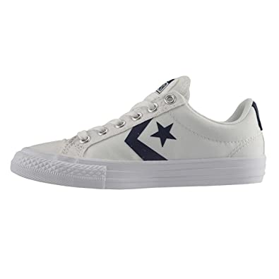 81e19059c87b ... ebay converse youth star player white canvas trainers 4.5 us 1c350 f9d1b