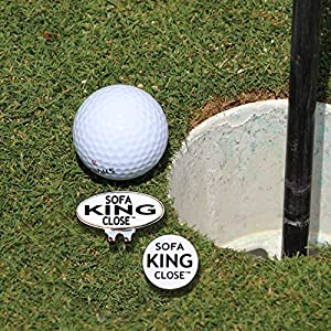 Sofa King Golf Ball Marker and Magnetic Golf Ball Marker Hat Clip. We Swear Much so You Wont Have to