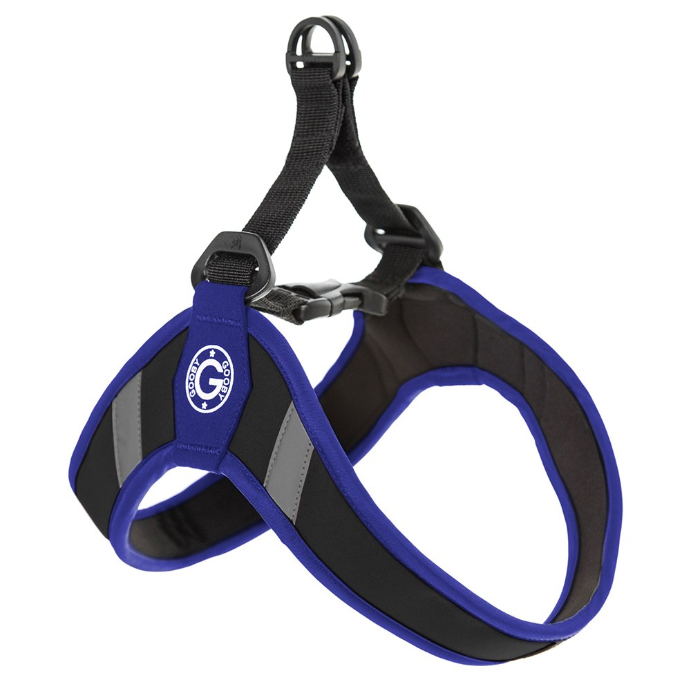 Gooby Simple Step in Dog Harness with Reflective Lining, Blue, Medium