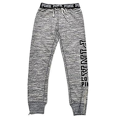 VS Pink Victoria s Secret Pink Gym Pant Sweatpants Marl Gray (Medium ... 74d95c3b4
