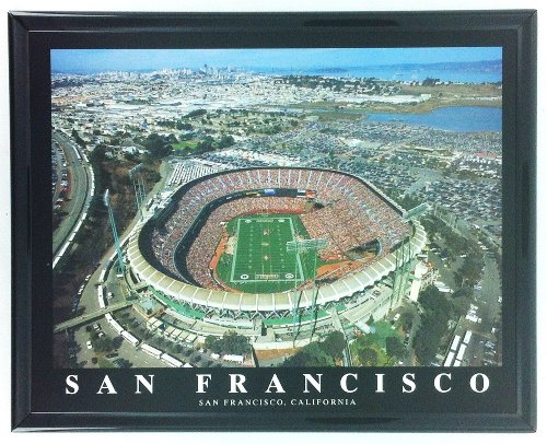 Framed San Francisco 49ers Stadium - Candlestick Park Aerial Photo