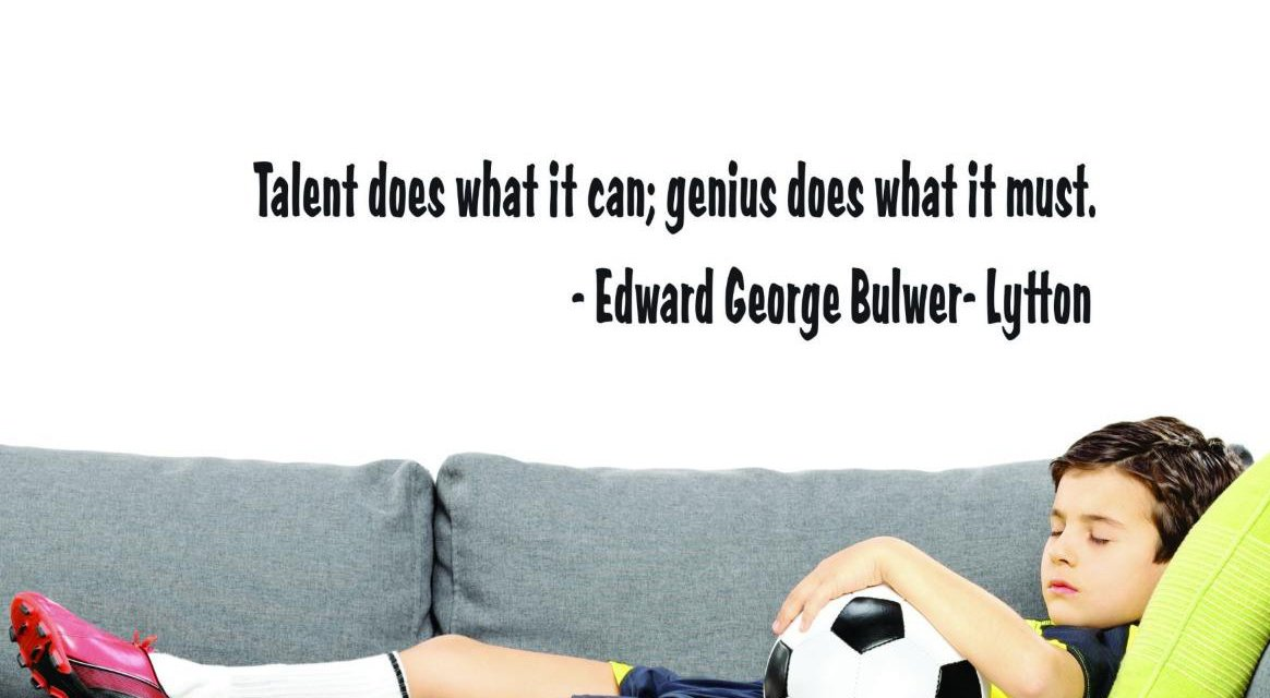 Black -Edward George Bulwer-Lytton Wall Art Size Design with Vinyl US V SOS 528 3 Top Selling Decals Talent Does What It Can; Genius Does What It Must 16x40 Inches Color 16 x 40,