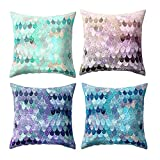 4pcs Geometric Elements Pillowcase Handmade Abstract Colorful Pattern Decoration for Home Use 17.7''X17.7''