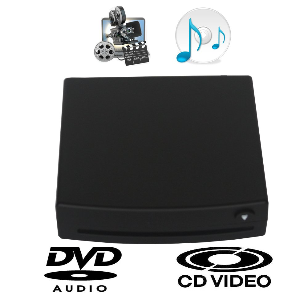 XISEDO External DVD Drive CD/DVD RW Burner Writer Drive DVD ROM Player External CD RW/DVD RW/CD RAM/DVD RAM Drive for Android Car Stereo, Laptop, PC, Desktop Computer (Black) by XISEDO (Image #2)
