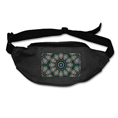 60%OFF Unisex Pockets Kaleidoscope Southwestern Colors Fanny Pack Waist / Bum Bag Adjustable Belt Bags Running Cycling Fishing Sport Waist Bags Black