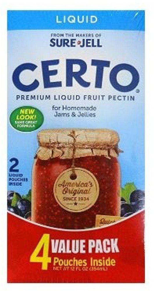 Sure Jell Certo Premium Liquid Fruit Pectin Twin Pack Value By Sure