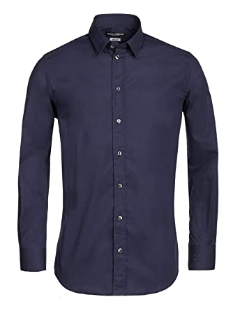 "Dolce   Gabbana Herren Businesshemd Hemd ""Gold Edition"" (42, Dunkelblau) 51839ae1ca"