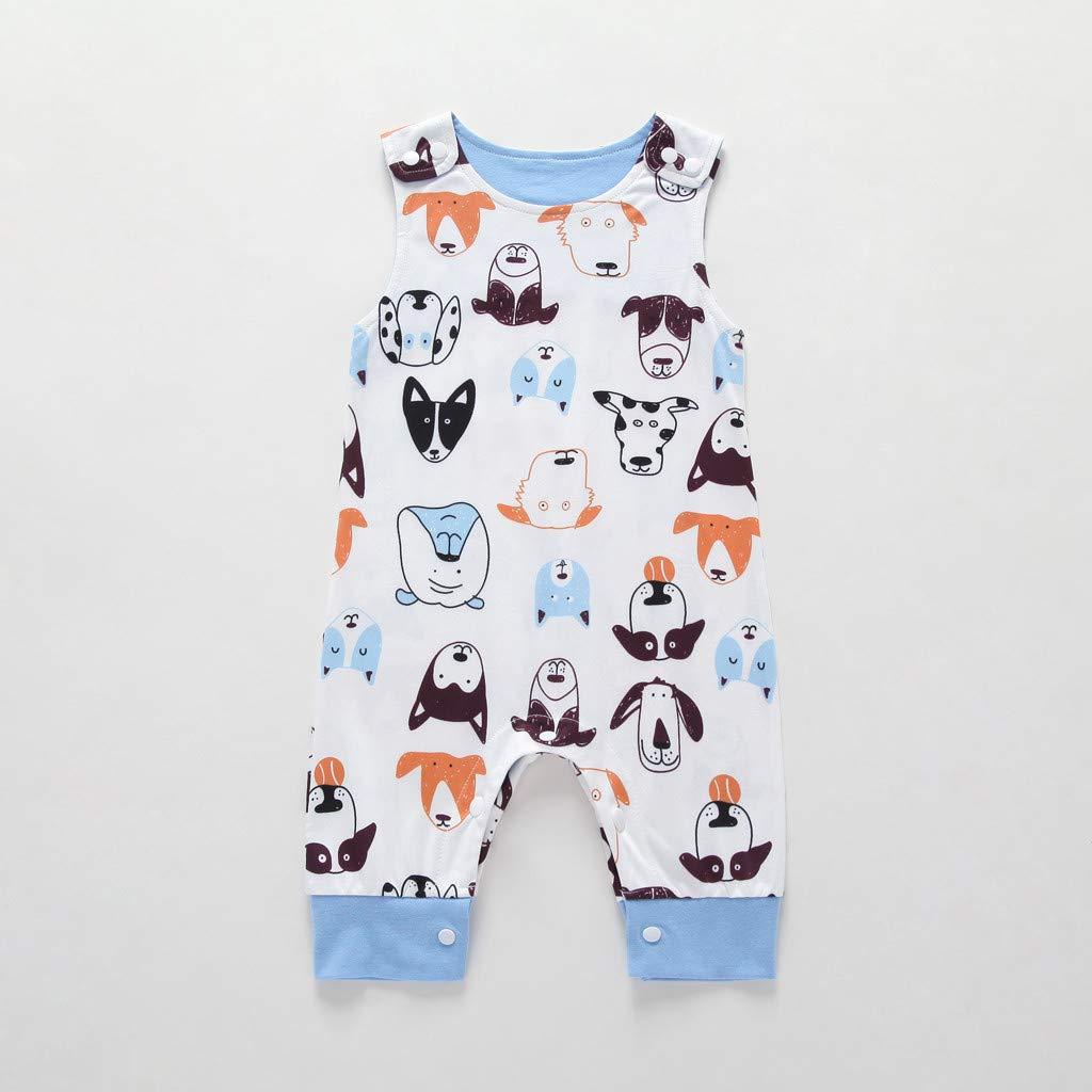 Ocean Newborn Kids Baby Boys Romper Jumpsuits Cartoon Animal Print Clothes Summer