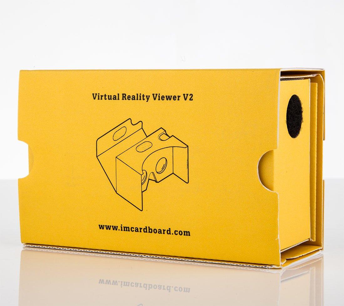 VR Headsets  Accessori Cellulare per Regali Originali Visore VR Smartphone per iPhone e Android Dispositivo Realt/à Virtuale Ispirato al Cardboard Google V2 I AM CARDBOARD VR Box