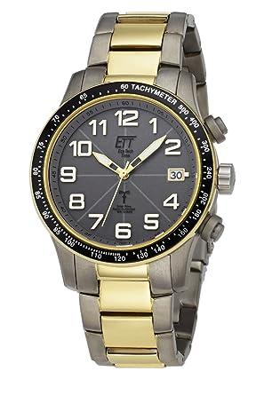 ECO Tech tiempo caballeros-radio control hombres II solares Drive radio aviación EGT-11275-52M caballeros-radio-reloj: Amazon.es: Relojes