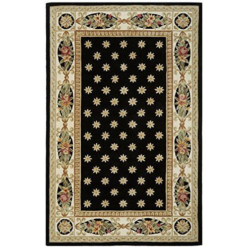 Safavieh Naples Collection Handmade Wool Area Rug, 4 x 6 , Burgundy Cream