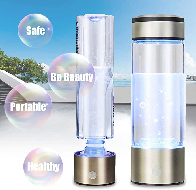FeiKe Botella de Agua portátil con hidrógeno y energía alcalina, generador de hidrógeno y Agua, Recargable, antiedad, antioxidante, Federación de Rusia: Amazon.es