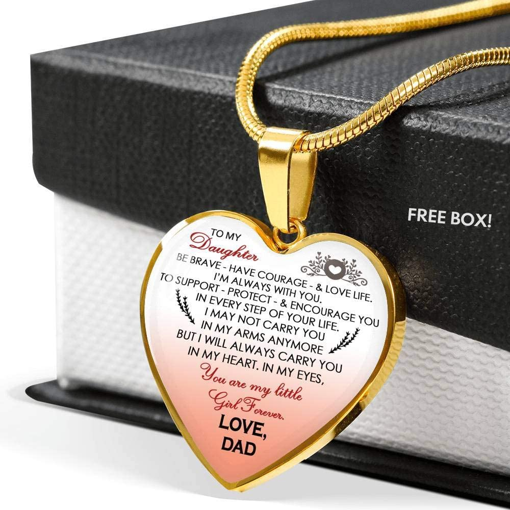 ThisYear Dad Love Daughter Jewelry Luxury Unique Birthday Gag Gifts Daughter Little Girl Includes Gift Box