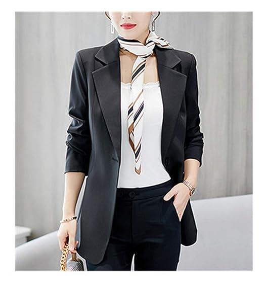 Office Ladies Coat Women Blazer Black Red Elegant Formal Slim Jacket
