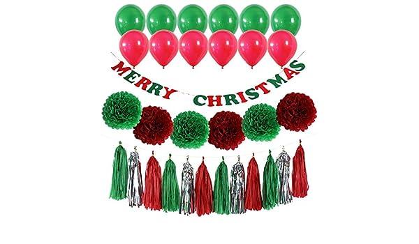 42pcs feliz Navidad Banner Kit - fiesta de Navidad decoraciones ...