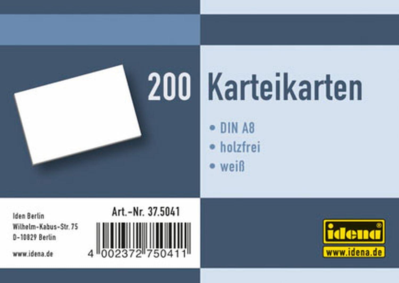 bianco 180/g//m/² /Cartoncini DIN A8 Idena 375043/ a righe 200/pezzi