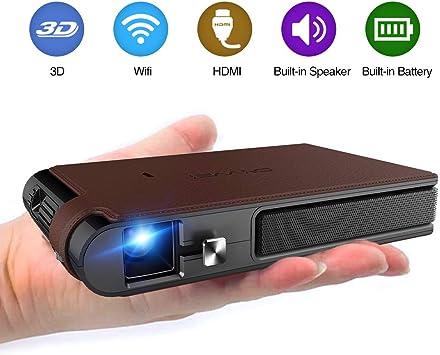 Mini proyector, WiFi Video DLP Proyector 1080P Proyector portátil ...