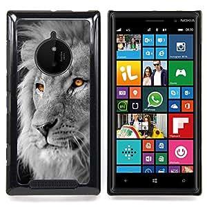 Planetar ( White Lion King Africa Negro Naranja ) Nokia Lumia 830 Fundas Cover Cubre Hard Case Cover