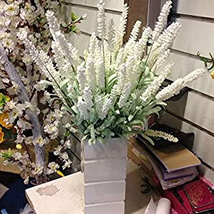 NPLE--Home Decoration Wedding Silk Flowers High Simulation 12 Heads Lavender Bouquet 8