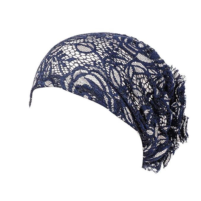 BBestseller Flor de Encaje Tocado musulmán, Mujeres Tapa de la Cabeza Indio Gorra Bufanda Headwear Hat: Amazon.es: Ropa y accesorios