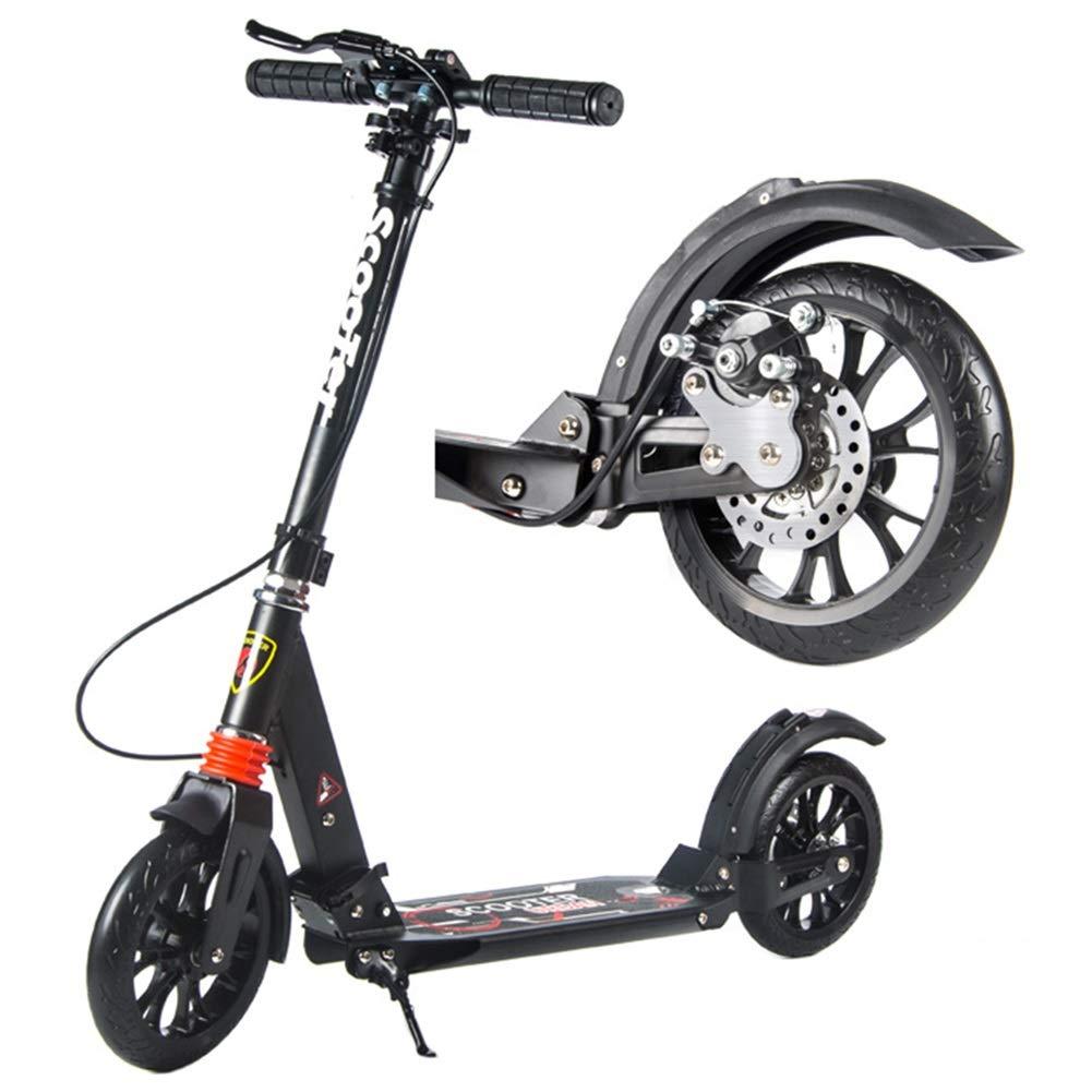 キックボード キックスクーター 子供/簡単に折りたたみシステムが付いている大人のスクーター、ディスクブレーキが付いている330lb折りたたみ調節可能なスクーターおよび200mmの大きい車輪、非電気