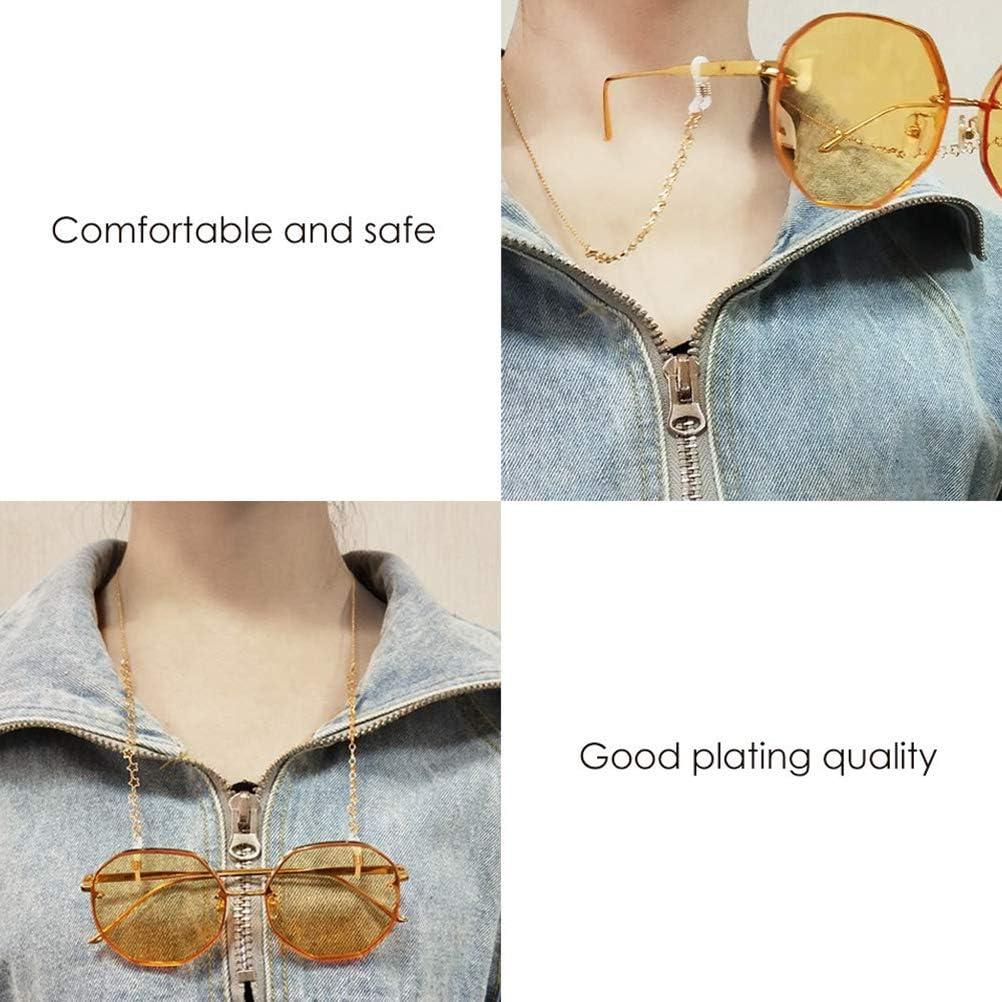 BovoYa Brillenkette Retro M/ädchen Glasses Anti-Lost Brillenketten f/ür Lesebrillen Rutschfestes Kettenglaszubeh/ör