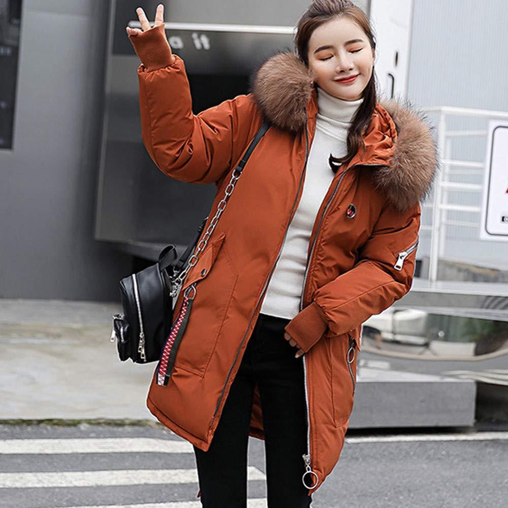 QingFan-Women Clothes Womens Long Double Layer Warm Overcoat,Winter Thicker Slim Warm Embroidery Pattern Coat Overcoat