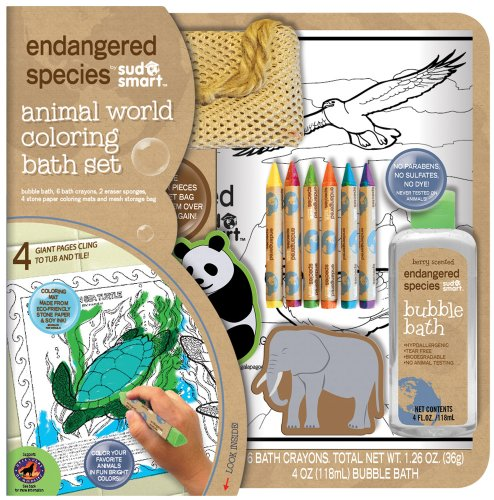 - Endangered Species by Sud Smart Animal World Coloring Bath Set