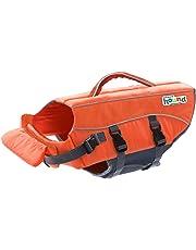 Outward Hound Kyjen 22018 Ripstop Dog Life Jacket Quick Release Easy-Fit Adjustable Dog Life Preserver, Extra Small, Orange