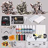 Professional Complete Tattoo Kit 3 Top Machine Gun 7 Color Ink 50 Needles Power Supply