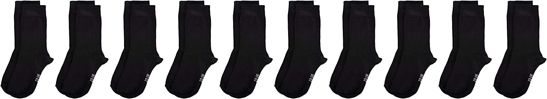 size: 31//34 MyWay Kids Socks Basic 10er Calf Black 610 31-34 Pack of 10