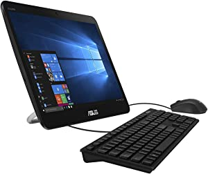 ASUS AiO All-in-One Desktop PC, 15.6-inch LED Backlit HD Touch Display, Intel Celeron N4000 Processor, 4GB DDR4 RAM, 128GB SATA SSD, Windows 10 Professional, V161GA-XB001T