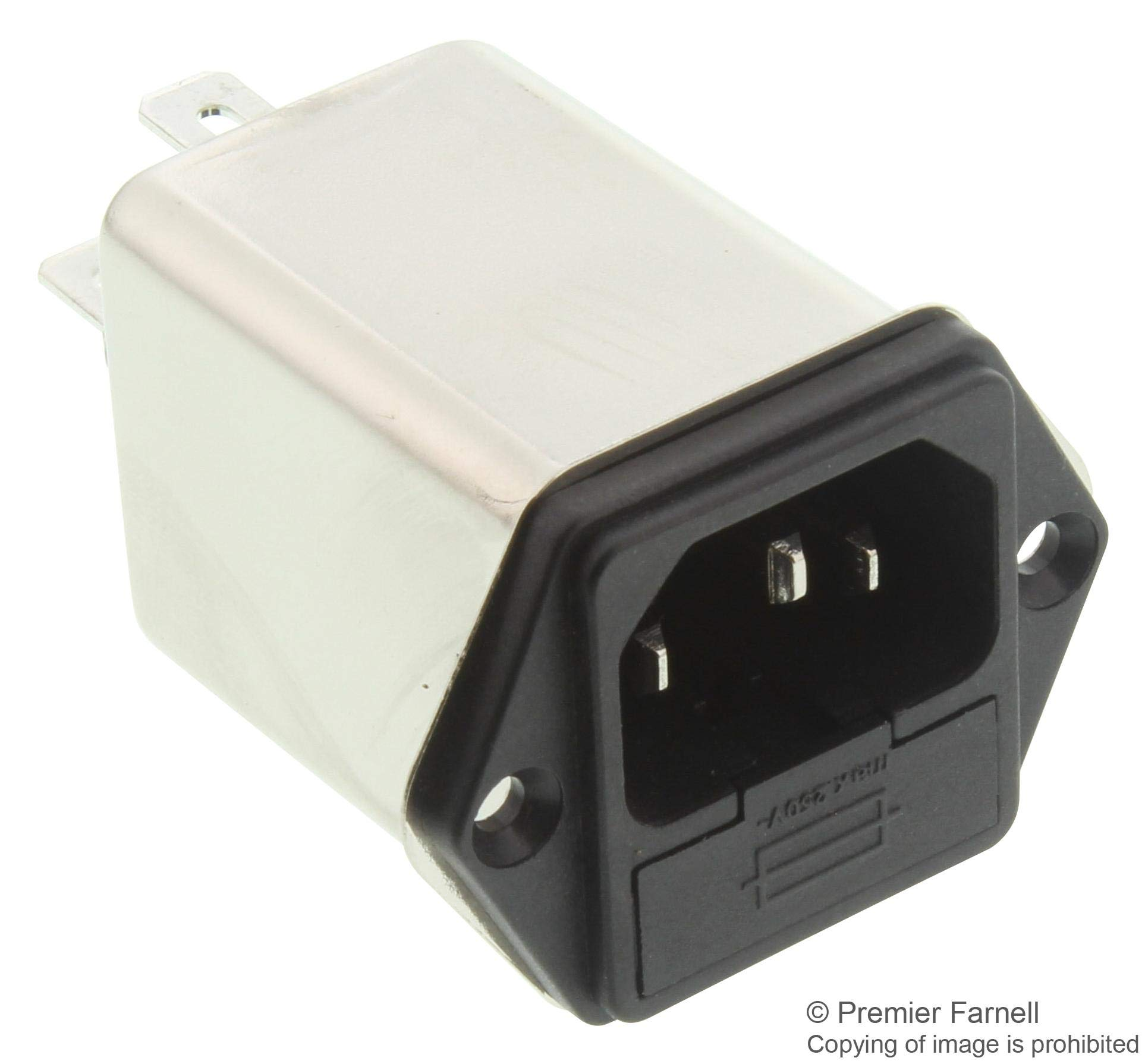 FN9260B-6-06 - Power Entry Module, General Purpose, Medical, IEC Inlet, 6A, 250V, Quick Connect, (Pack of 2) (FN9260B-6-06)
